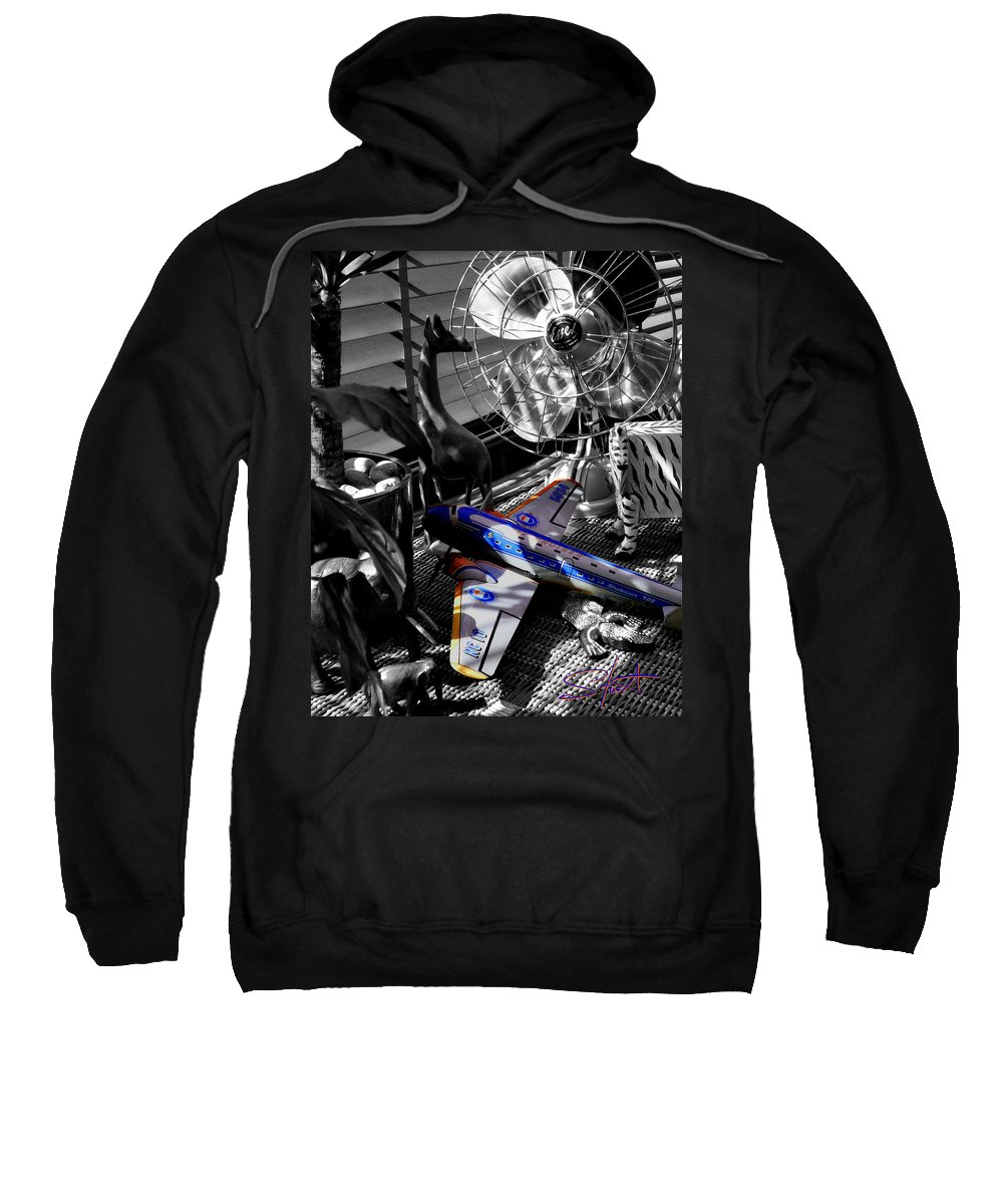 Fan Sweatshirt featuring the photograph Indiana Jones And The Jungle Dream by Charles Stuart