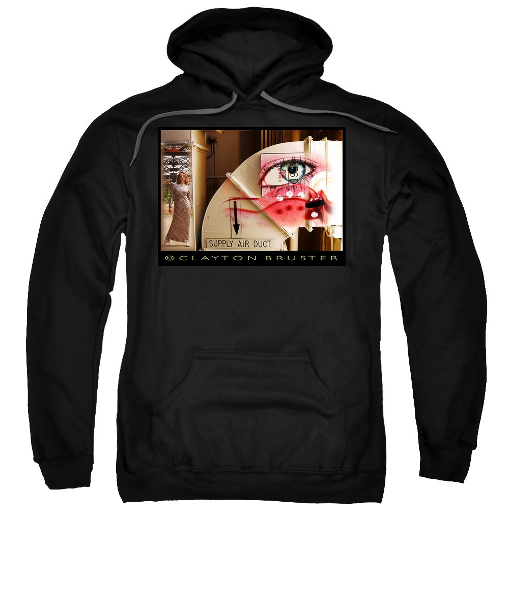 Sweatshirt featuring the photograph Industrial Ceiling Dreams by Clayton Bruster