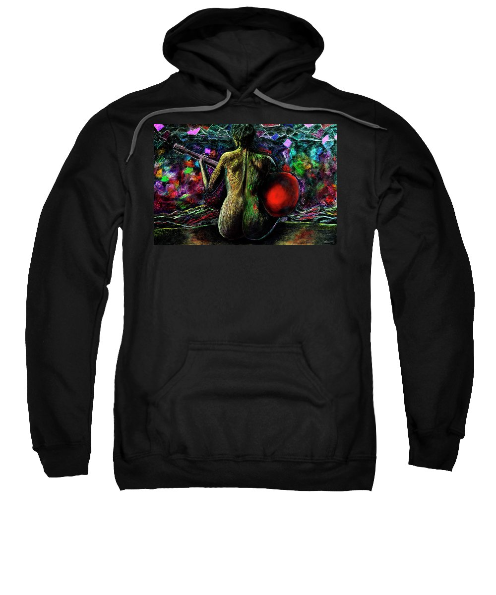 Guitar Sweatshirt featuring the painting Infinite Landscape by Miko At The Love Art Shop