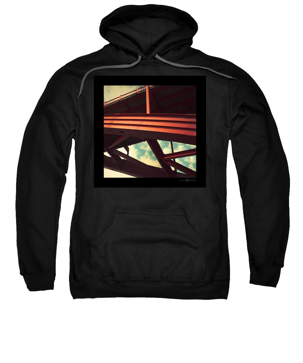 Bridge Sweatshirt featuring the photograph Infrastructure by Tim Nyberg