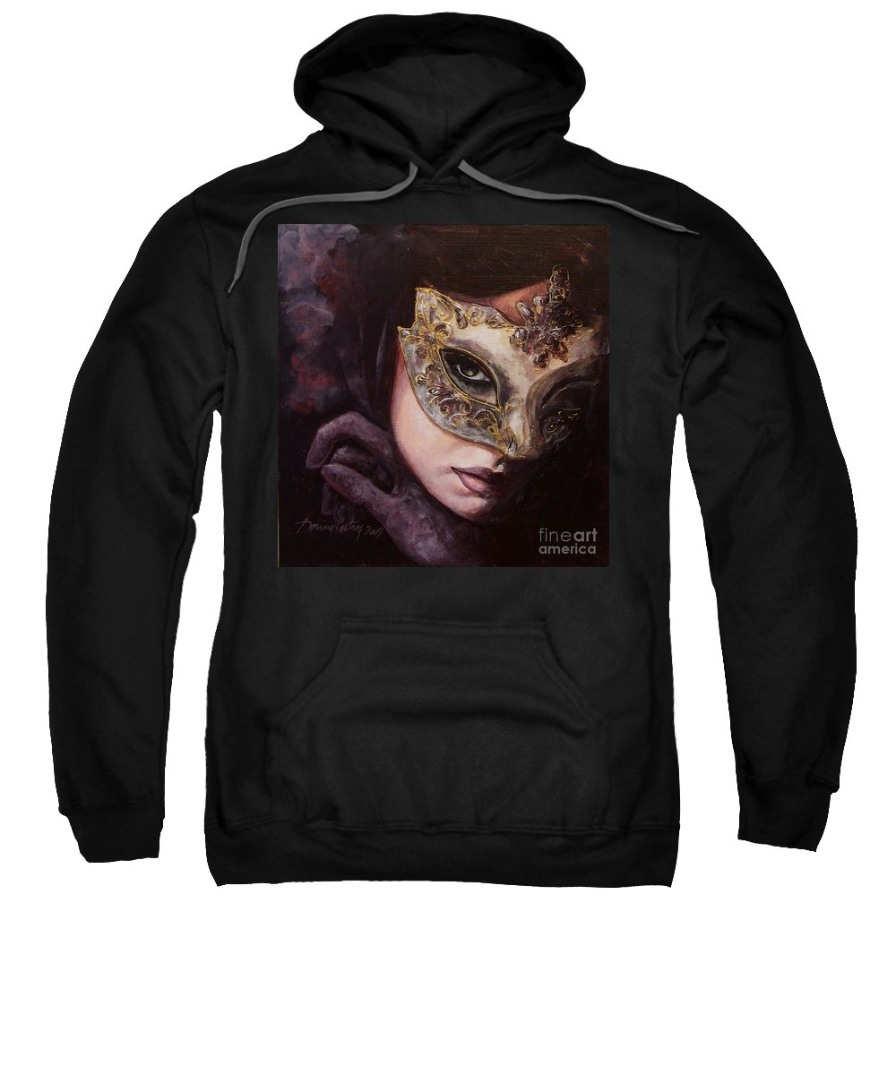 Art Sweatshirt featuring the painting Ingredient Of Mystery by Dorina Costras