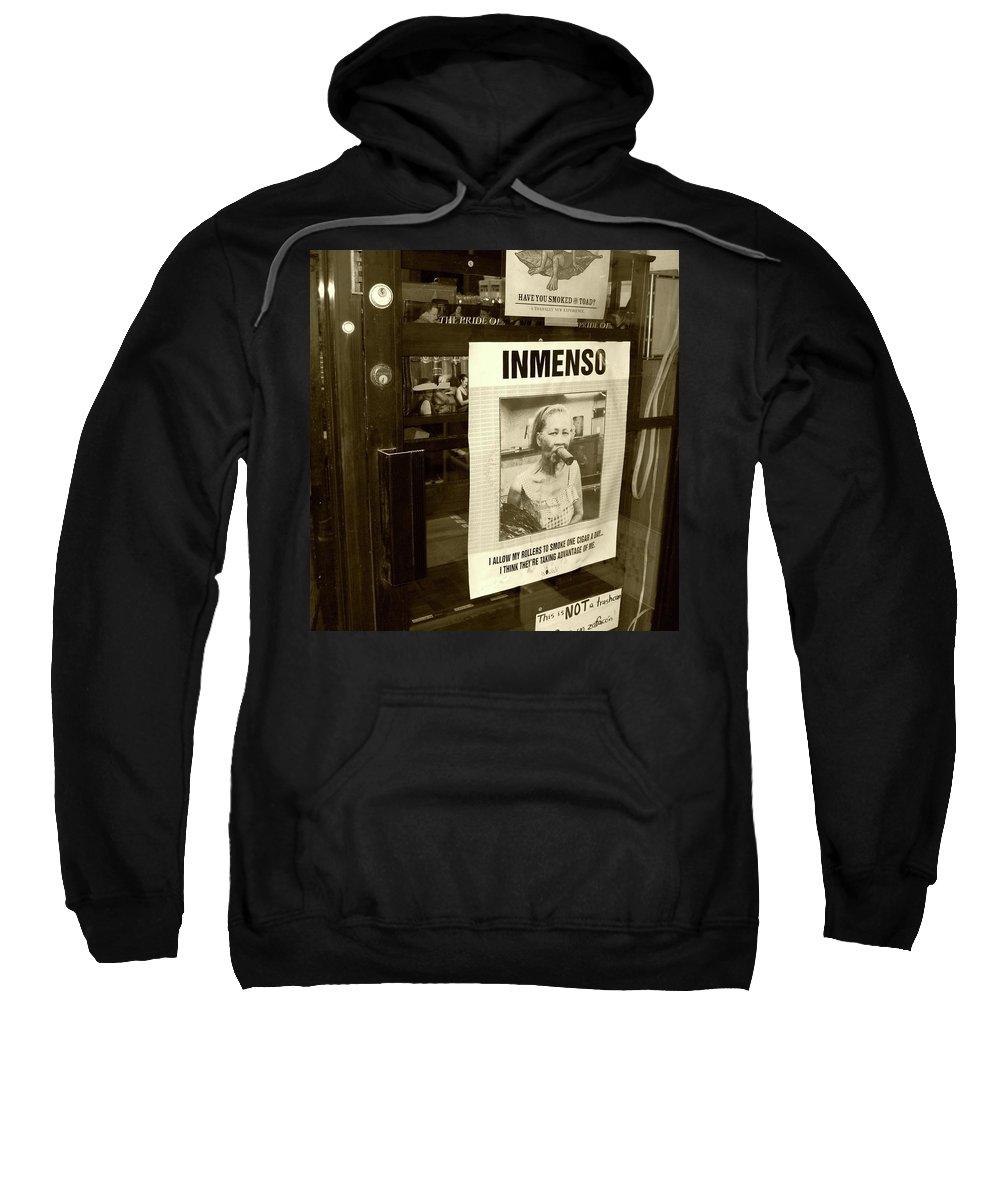 Cigar Sweatshirt featuring the photograph Inmenso Cohiba by Debbi Granruth