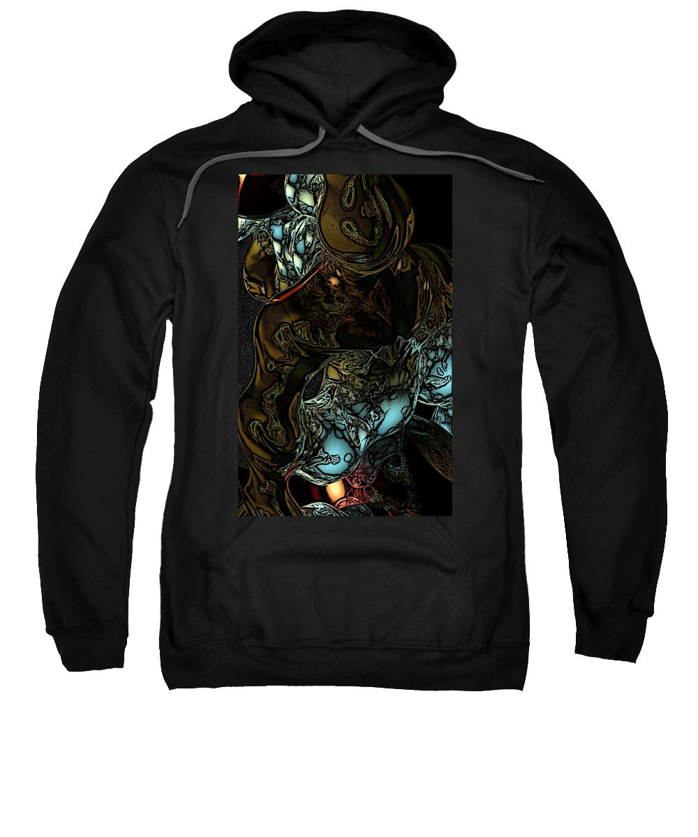Abstract Sweatshirt featuring the digital art Inner Being by David Lane