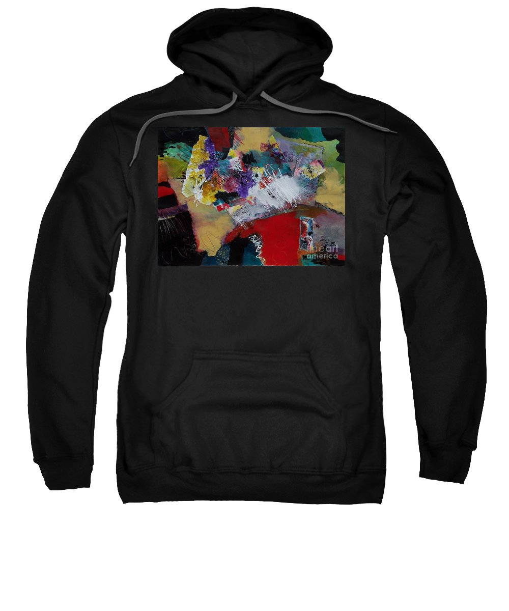 Mixed Media Painting Sweatshirt featuring the painting Inner Spirit by Donna Frost