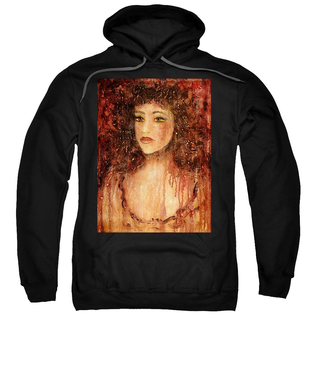 Innocence Sweatshirt featuring the painting Innocence by Natalie Holland