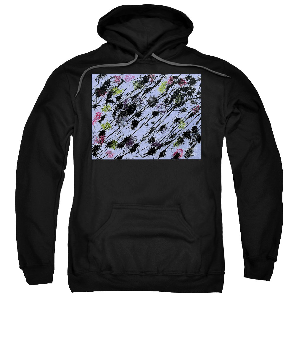 Keith Elliott Sweatshirt featuring the painting Insects Loathing - V1lle30 by Keith Elliott