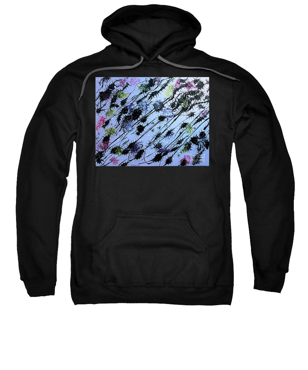 Keith Elliott Sweatshirt featuring the painting Insects Loathing - V1lllt54 by Keith Elliott
