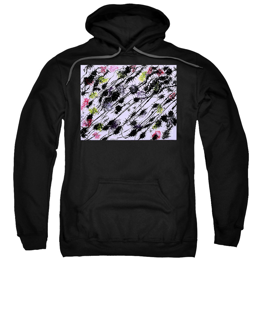 Keith Elliott Sweatshirt featuring the painting Insects Loathing - V1vhkf100 by Keith Elliott