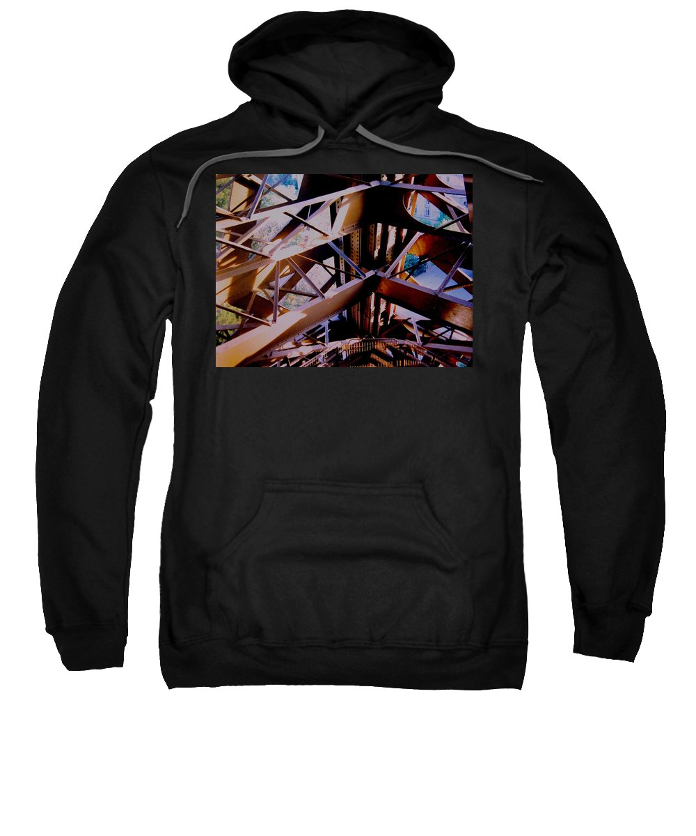 Eiffel Sweatshirt featuring the photograph Inside Eiffel by Ian MacDonald