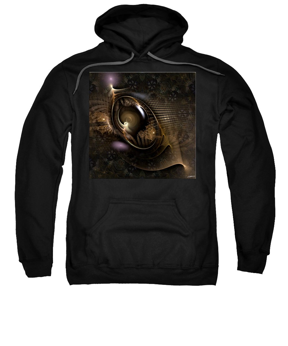 Abstract Sweatshirt featuring the digital art Insight Through Hindsight by Casey Kotas