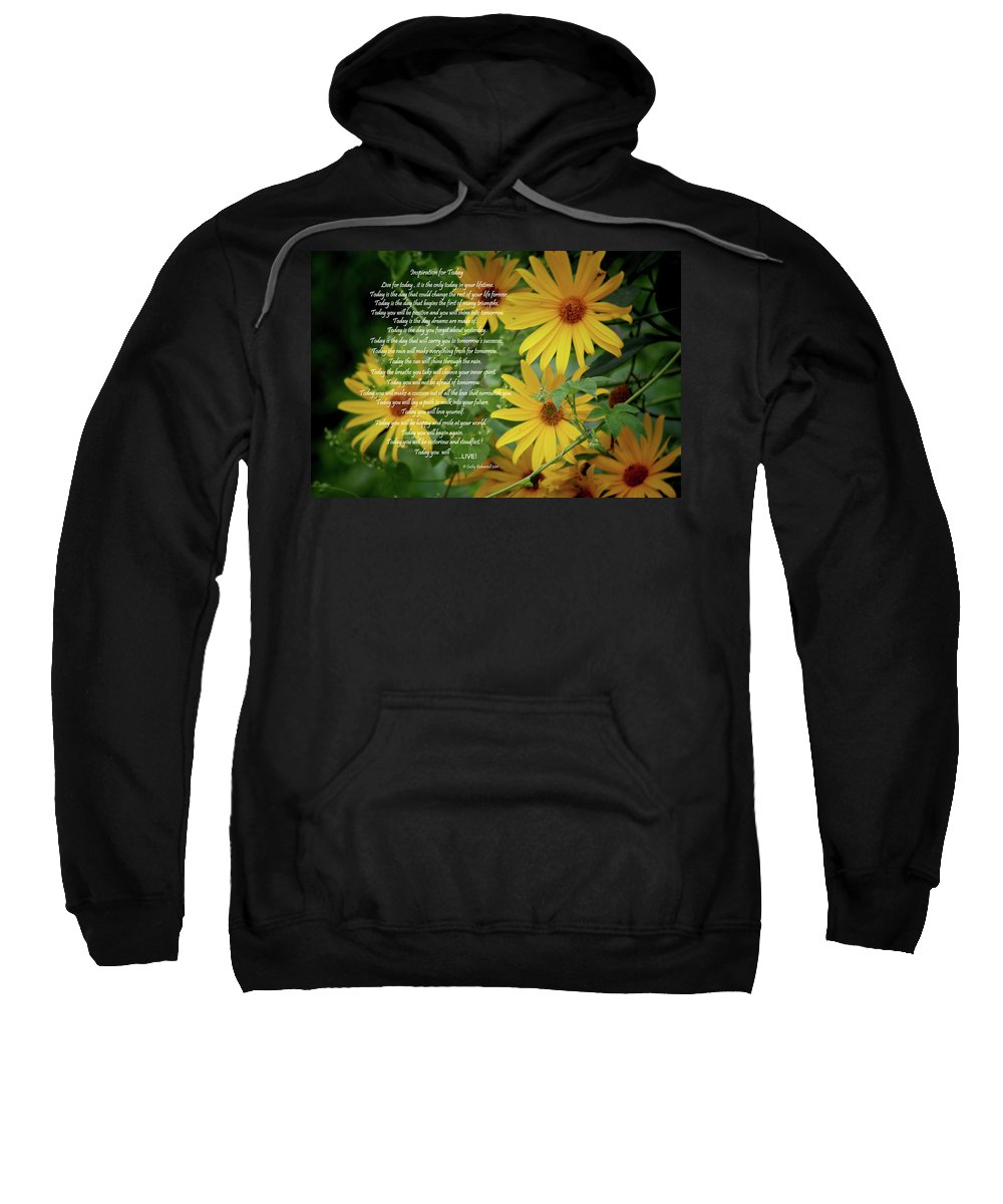 Sports Sweatshirt featuring the digital art Inspiration For Today Floral by Cathy Beharriell