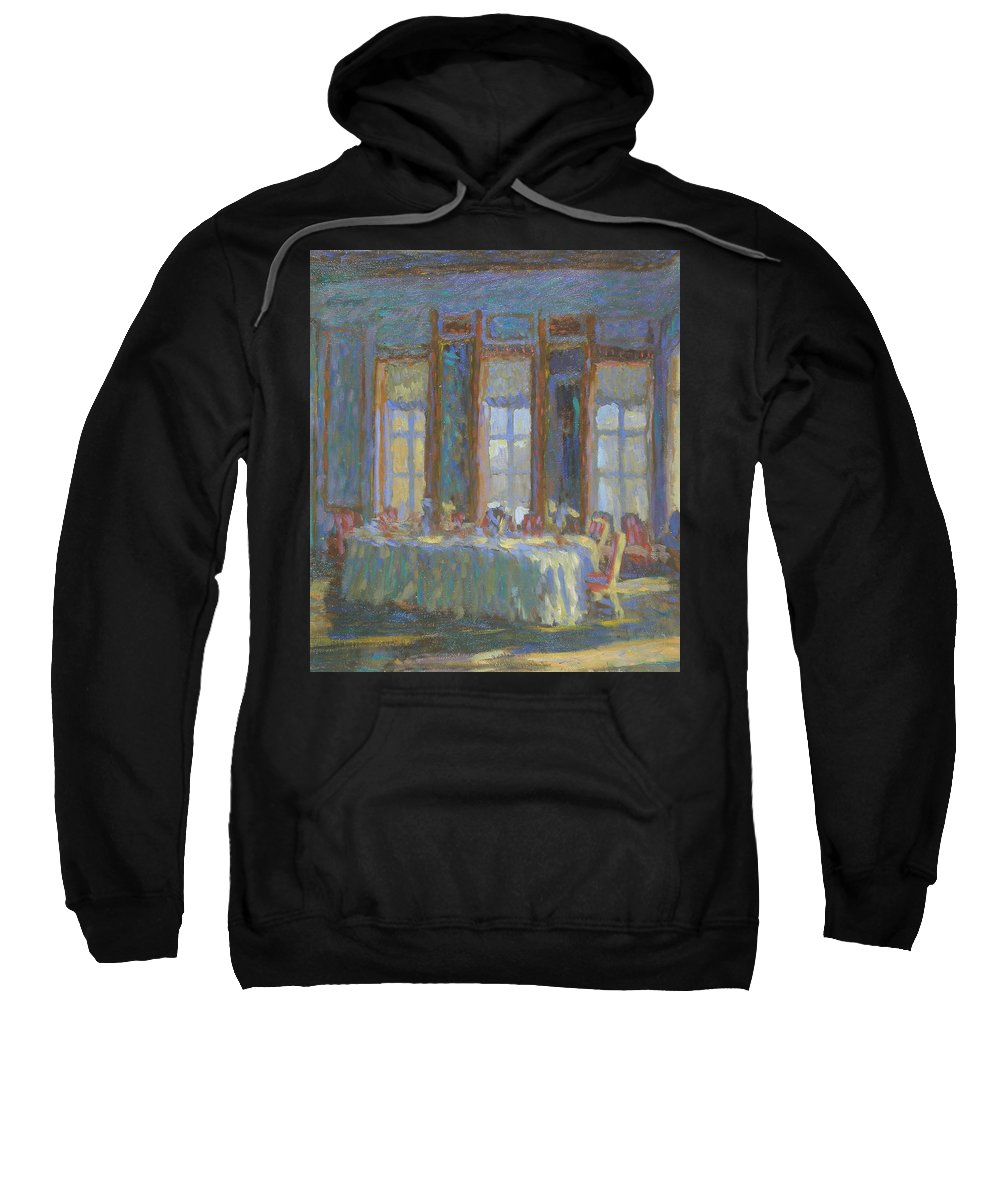 Moscow Sweatshirt featuring the painting Interior by Robert Nizamov