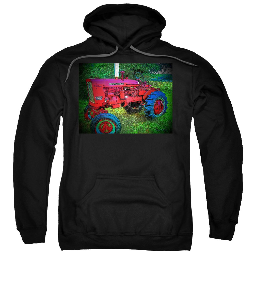 Tractor Sweatshirt featuring the photograph International by Terry Anderson