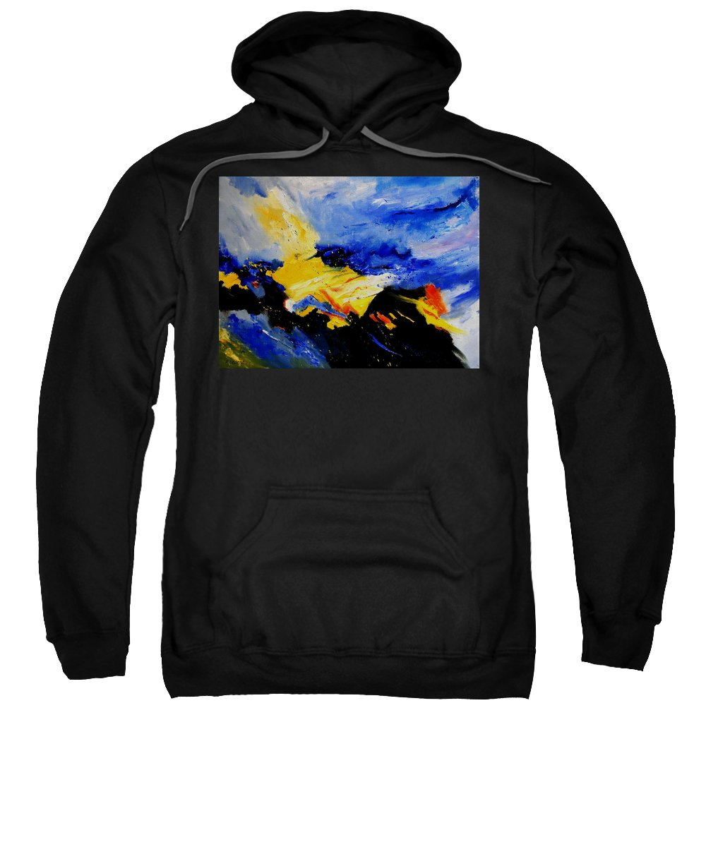 Abstract Sweatshirt featuring the painting Interstellar Overdrive 2 by Pol Ledent