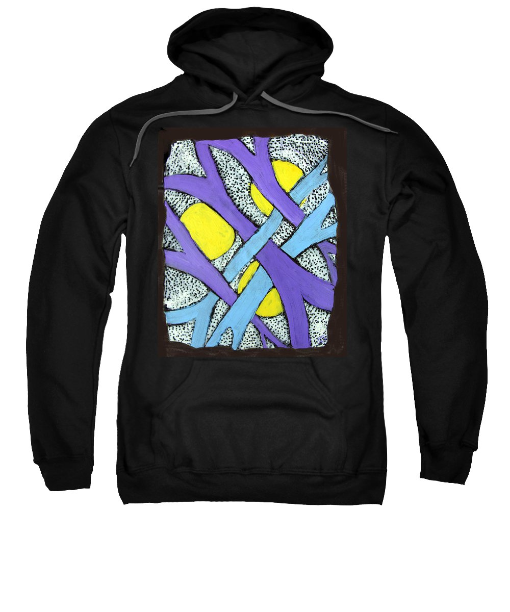 Abstract Sweatshirt featuring the painting Intertwined by Wayne Potrafka