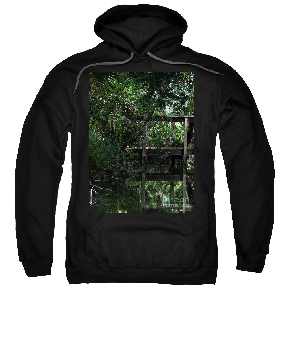 Woods Sweatshirt featuring the photograph Into Green by Greg Patzer