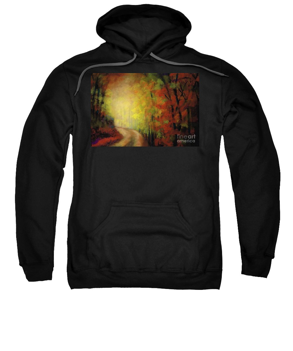 Landscape Sweatshirt featuring the painting Into The Light by Frances Marino