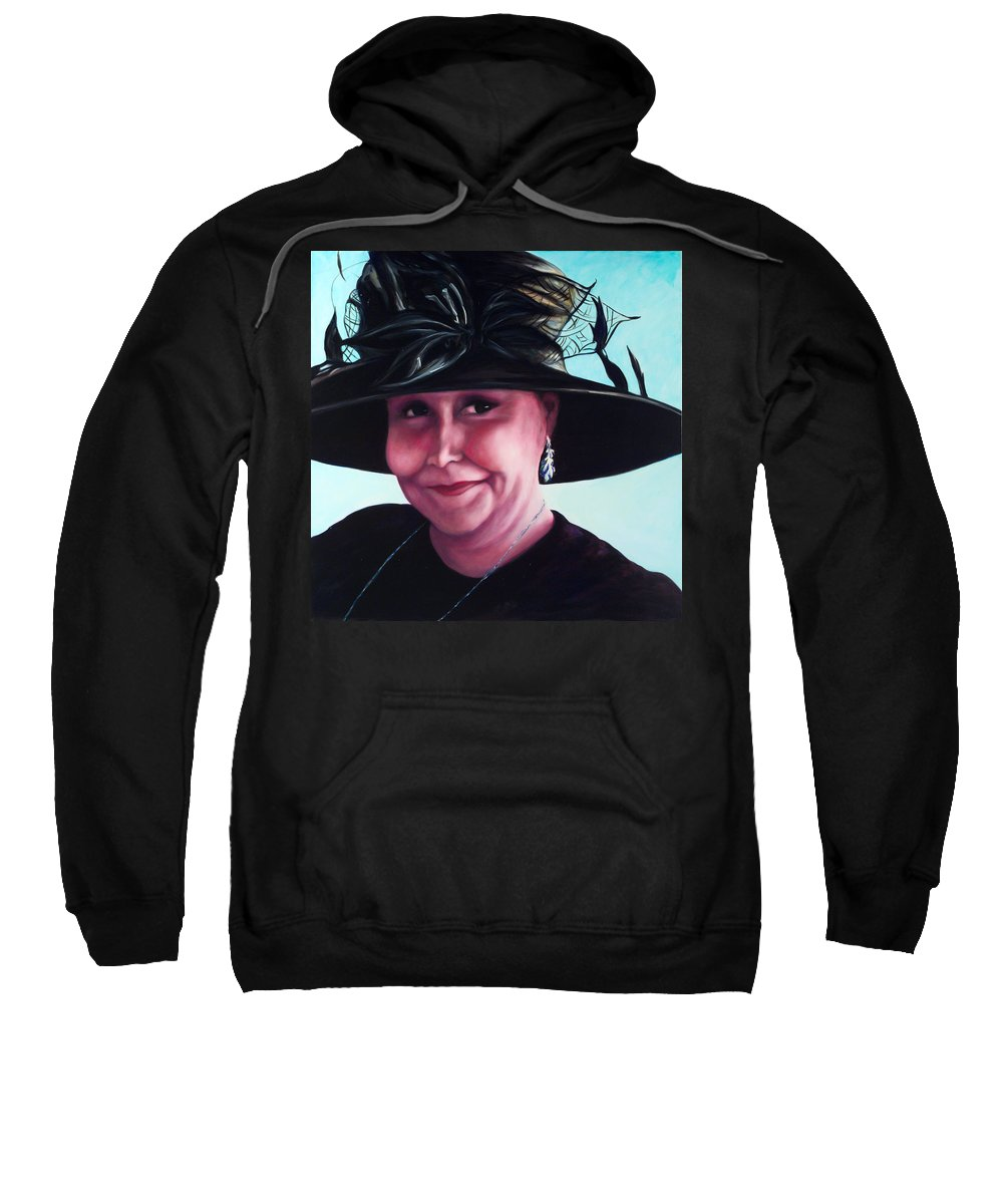Woman Sweatshirt featuring the painting Irene by Shannon Grissom