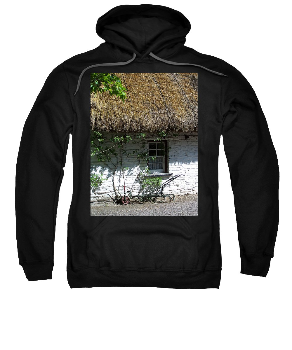 Irish Sweatshirt featuring the photograph Irish Farm Cottage Window County Cork Ireland by Teresa Mucha