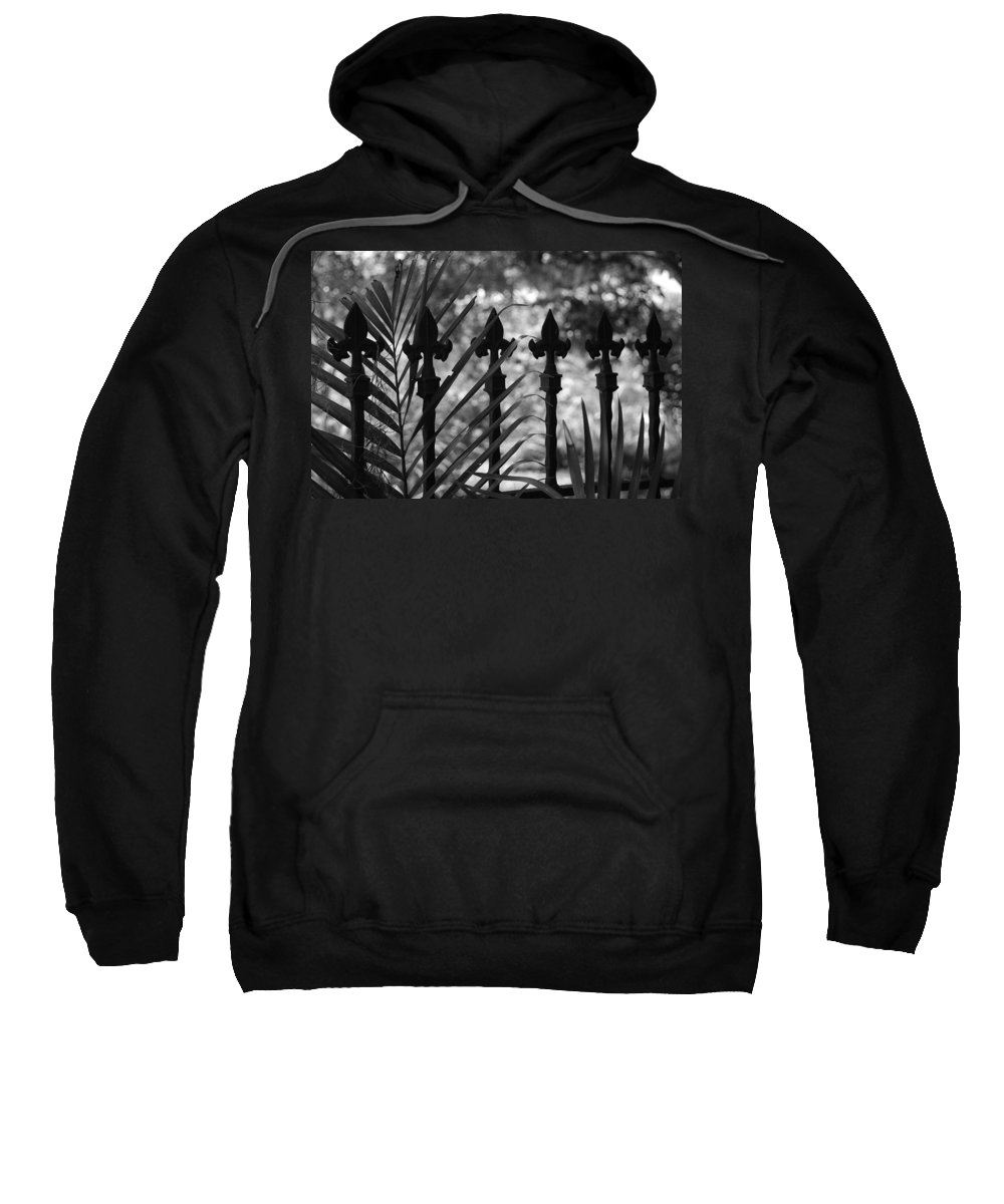 Wrought Iron Sweatshirt featuring the photograph Iron Fence by Rob Hans