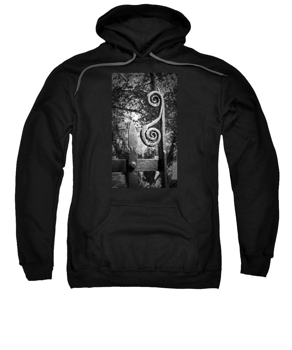 Irish Sweatshirt featuring the photograph Iron Gate Detail County Clare Ireland by Teresa Mucha