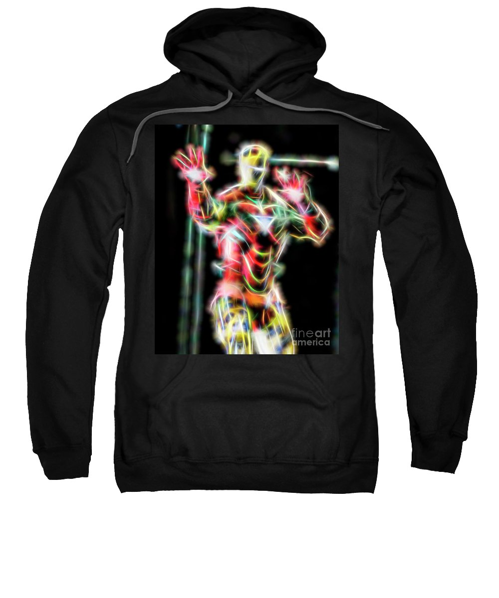 Iron Man Sweatshirt featuring the photograph Iron Man by David Greatorex