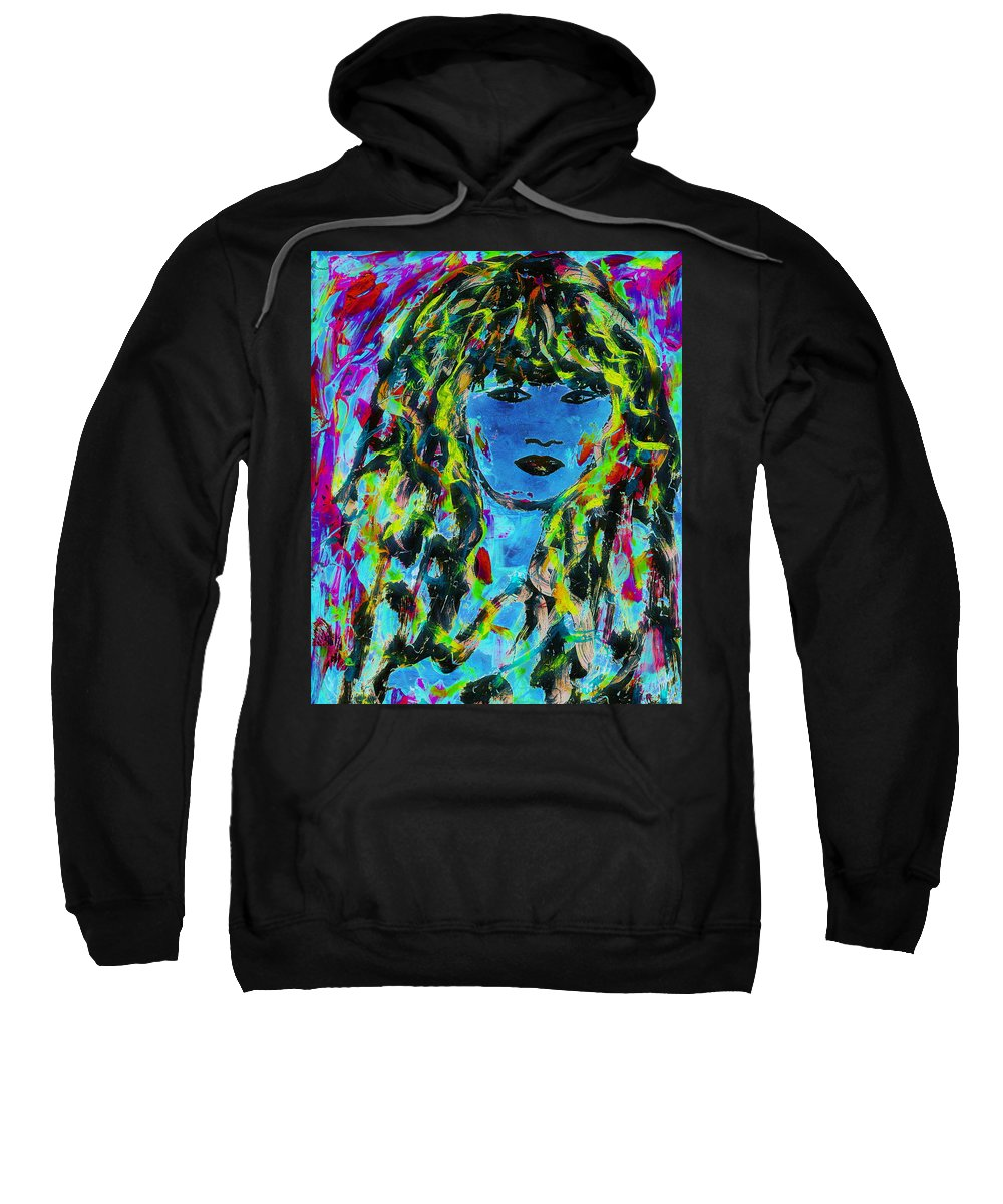 Isabella Portrait Sweatshirt featuring the painting Isabella by Natalie Holland