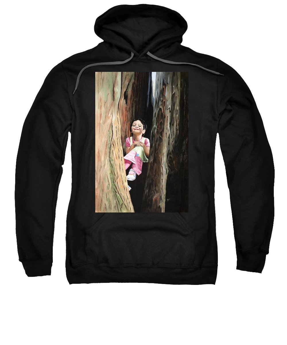 Girl Sweatshirt featuring the painting Isabella Of Kilkenny by Mary Rogers