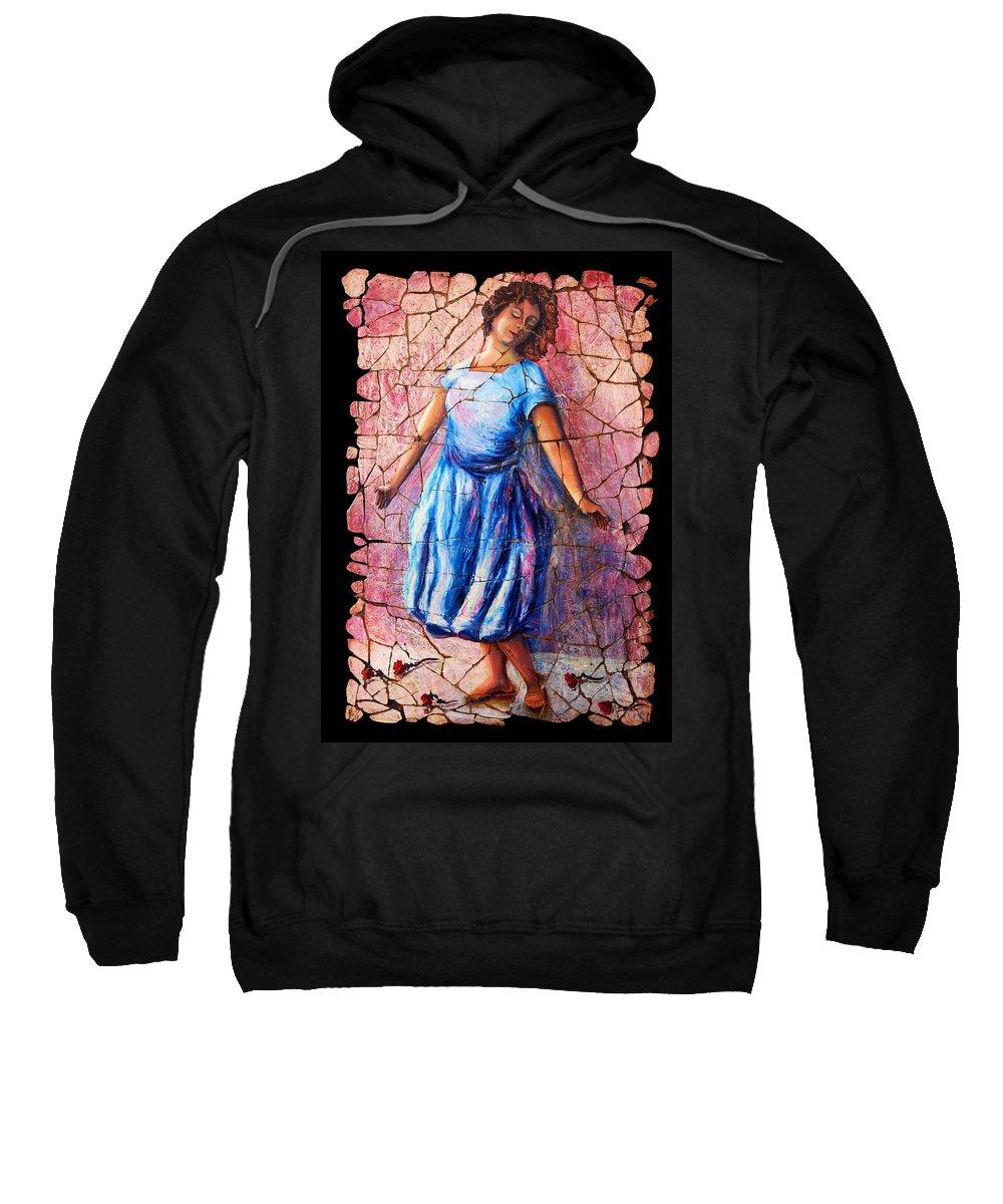 Isadora Duncan Sweatshirt featuring the painting Isadora Duncan - 2 by OLena Art Lena Owens