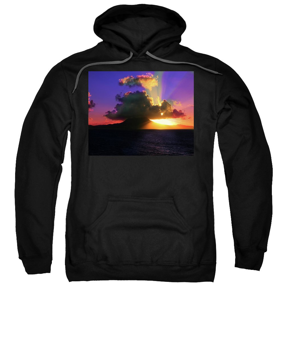Island Sweatshirt featuring the photograph Island Sunrise by Perry Webster