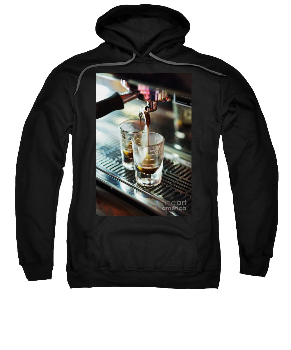 Artistic Sweatshirt featuring the photograph Italian Espresso Expresso Coffee Making Preparation With Machine by Jacek Malipan