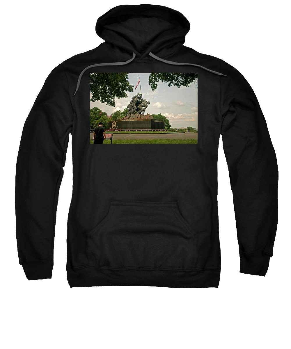 iwo Jima Sweatshirt featuring the photograph Iwo Jima by Paul Mangold