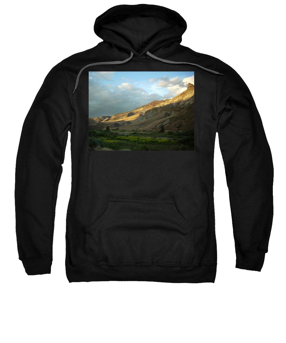 Sunset Sweatshirt featuring the photograph J D Sunset by Sara Stevenson
