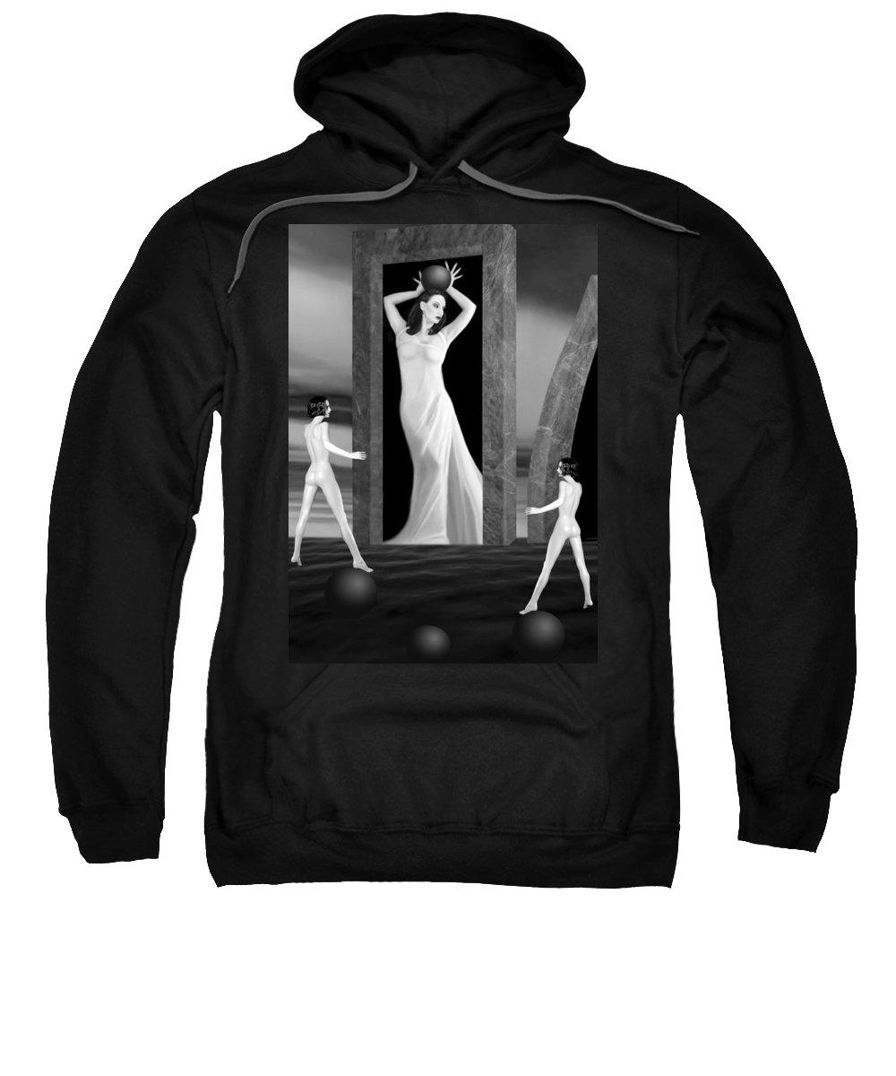 Beautiful Sweatshirt featuring the photograph Jaedes Fortress - Self Portrait by Jaeda DeWalt