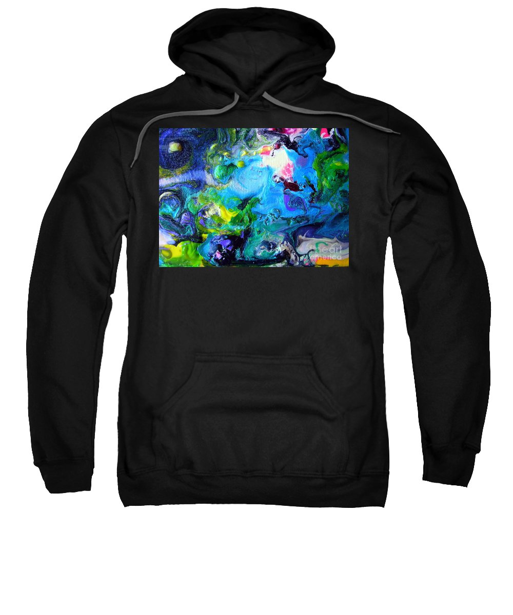 Art Sweatshirt featuring the painting Jamaica Nights by Dawn Hough Sebaugh