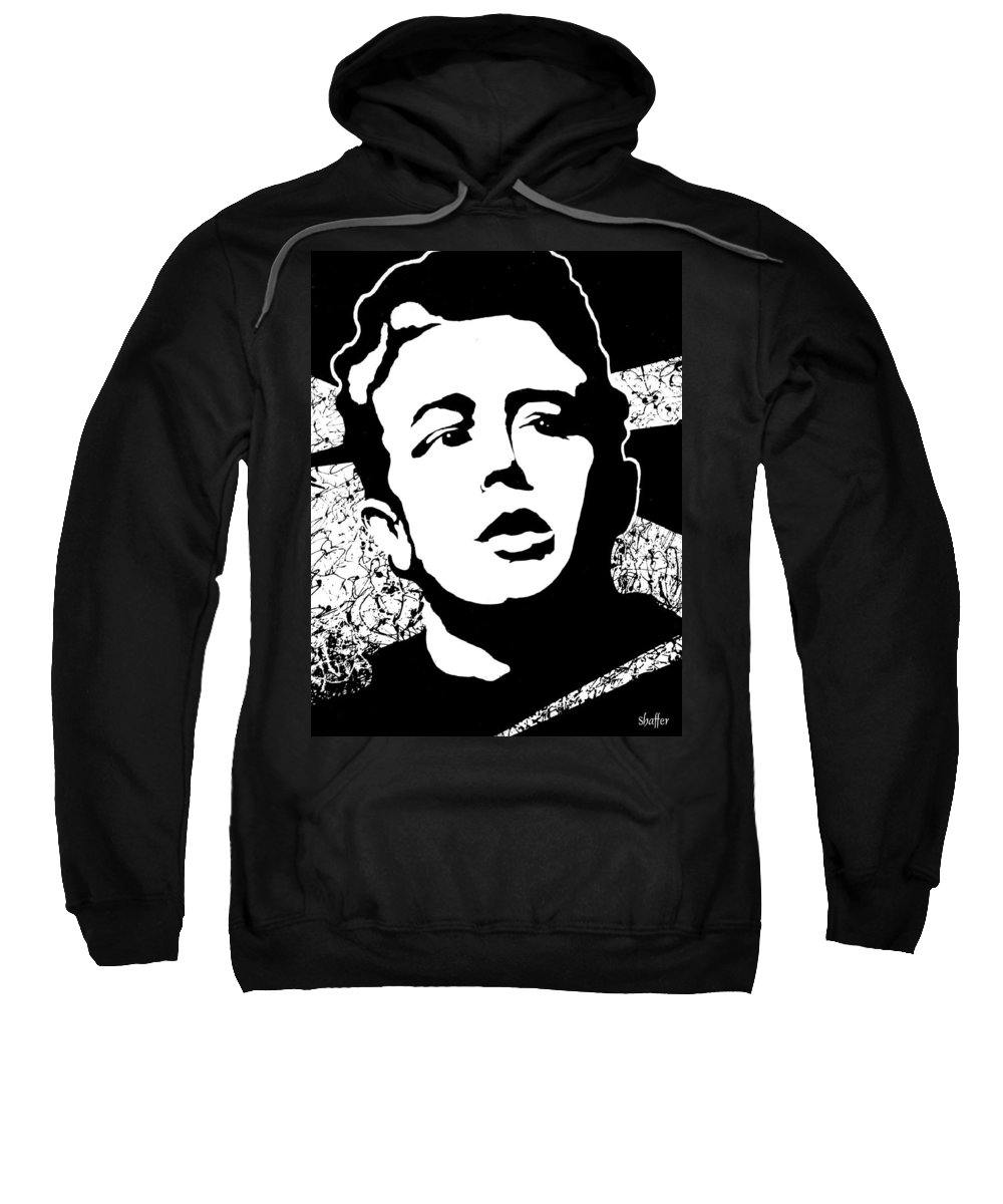 James Dean Sweatshirt featuring the painting James Dean by Curtiss Shaffer