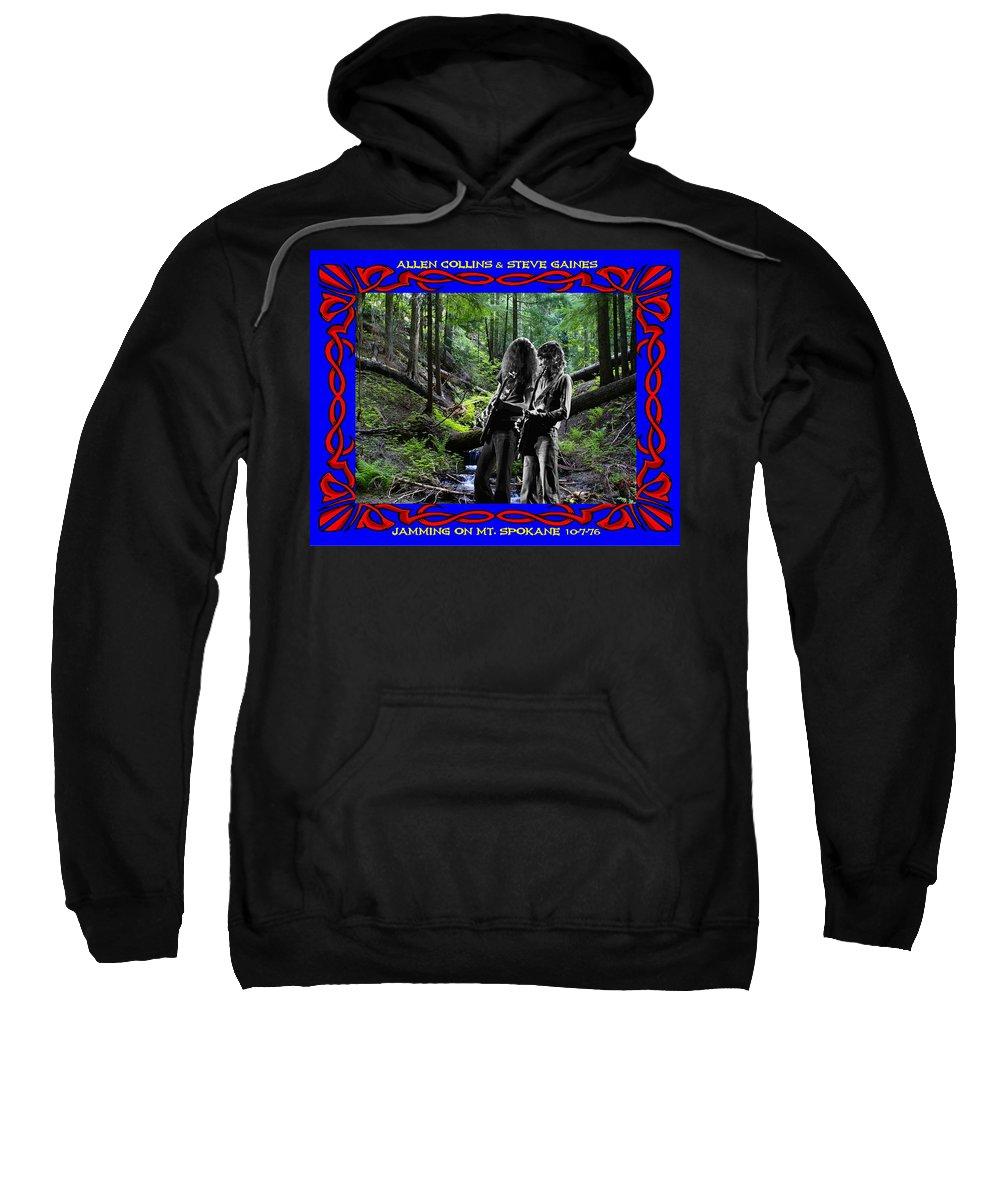 Allen Collins Sweatshirt featuring the photograph Jamming On Mt. Spokane 1 by Ben Upham