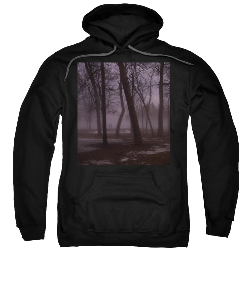 January Sweatshirt featuring the photograph January Fog 1 by Anita Burgermeister