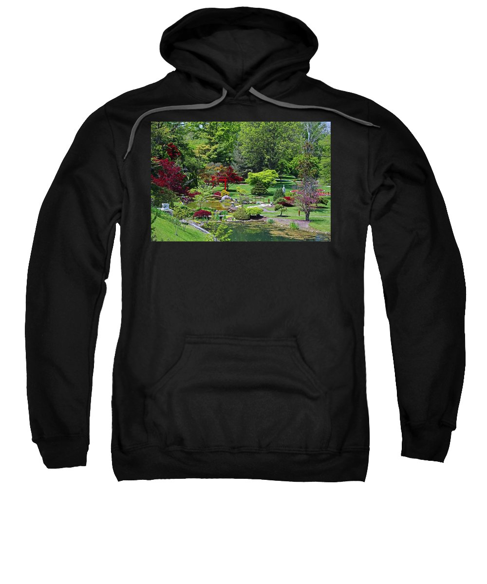 Japanese Sweatshirt featuring the photograph Japanese Garden I by Michiale Schneider