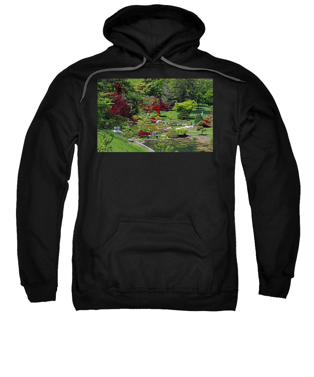 Japanese Sweatshirt featuring the photograph Japanese Garden II by Michiale Schneider