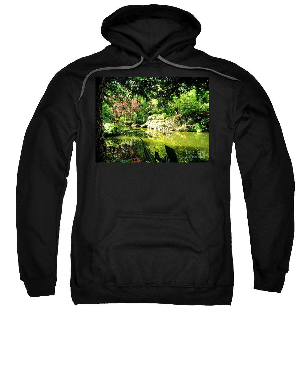 Japanese Sweatshirt featuring the photograph Japanese Garden by Jerome Stumphauzer