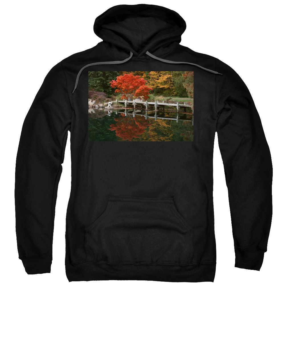 Maymont Sweatshirt featuring the photograph Japanese Reflection by Tina Meador