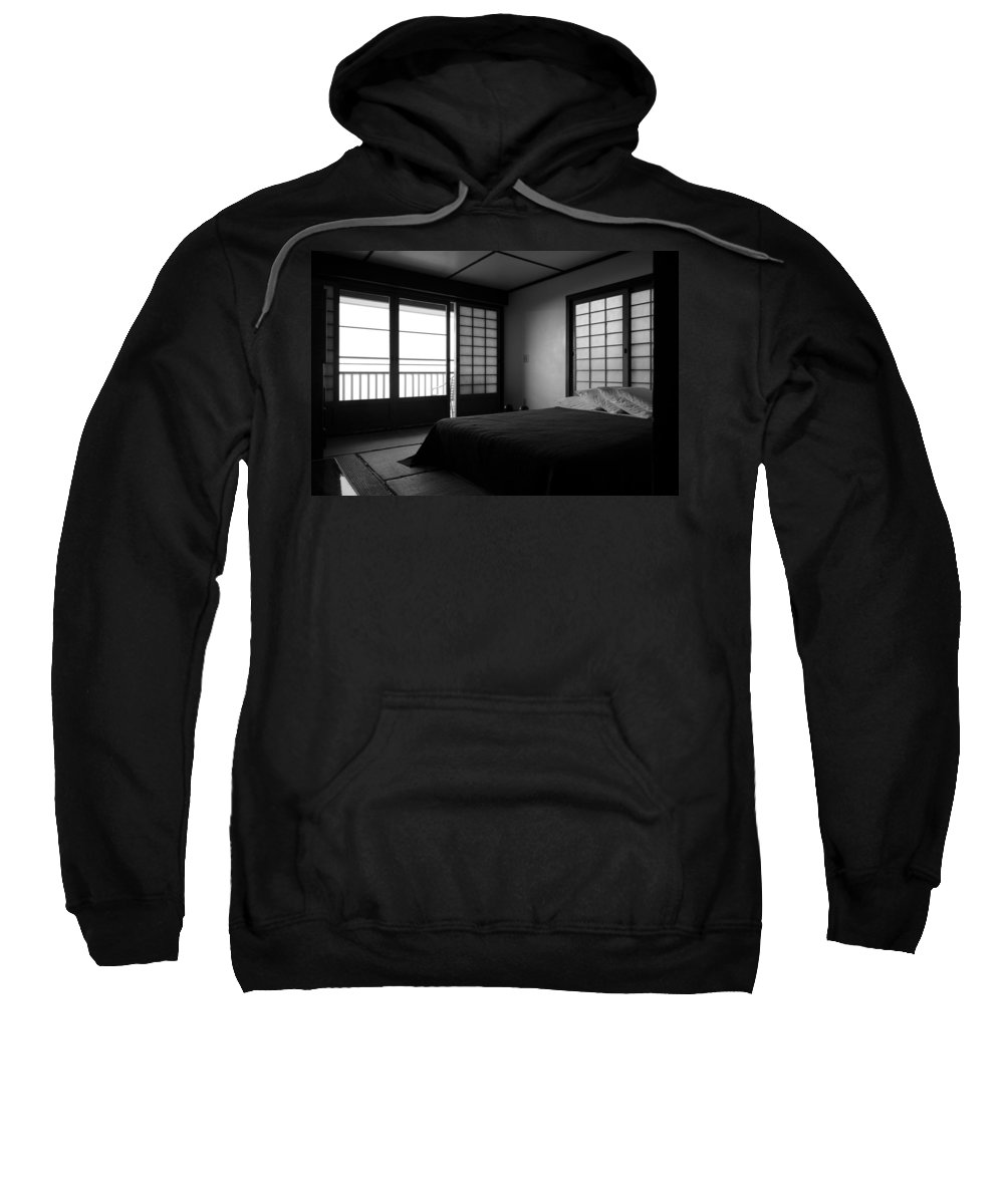 Bed Sweatshirt featuring the photograph Japanese Style Room At Manago Hotel by Lori Seaman