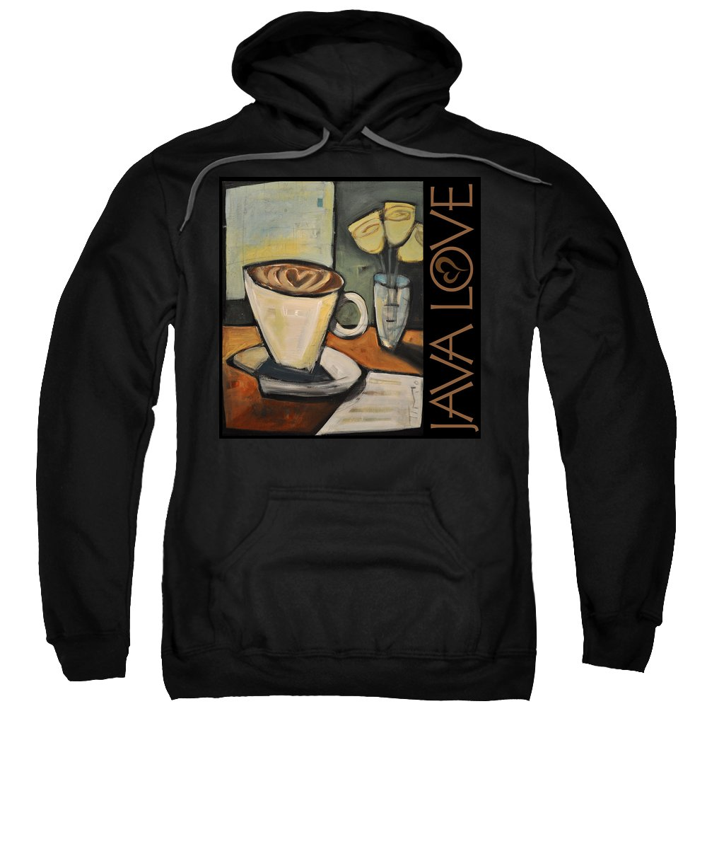 Beverage Sweatshirt featuring the painting Java Love Poster by Tim Nyberg
