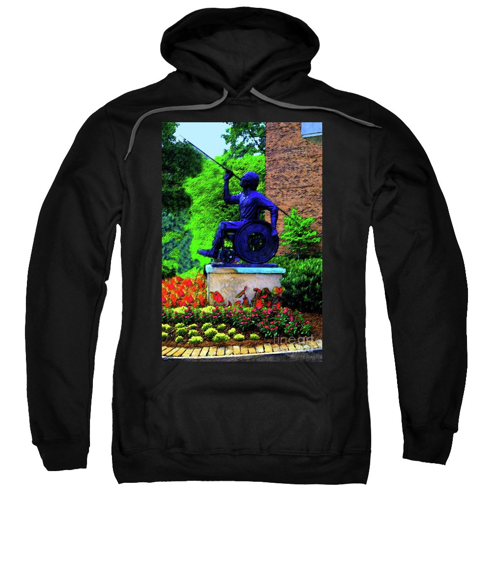 Wheelchair Sweatshirt featuring the photograph Javelin Of Flight by Jost Houk