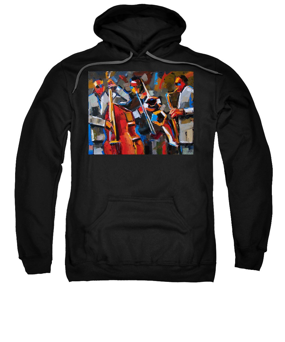 Jazz Sweatshirt featuring the painting Jazz Angles by Debra Hurd