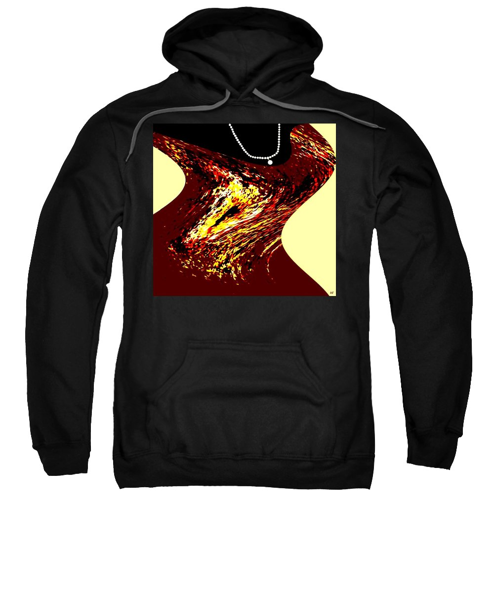 Abstract Sweatshirt featuring the digital art Jazz Singer by Will Borden
