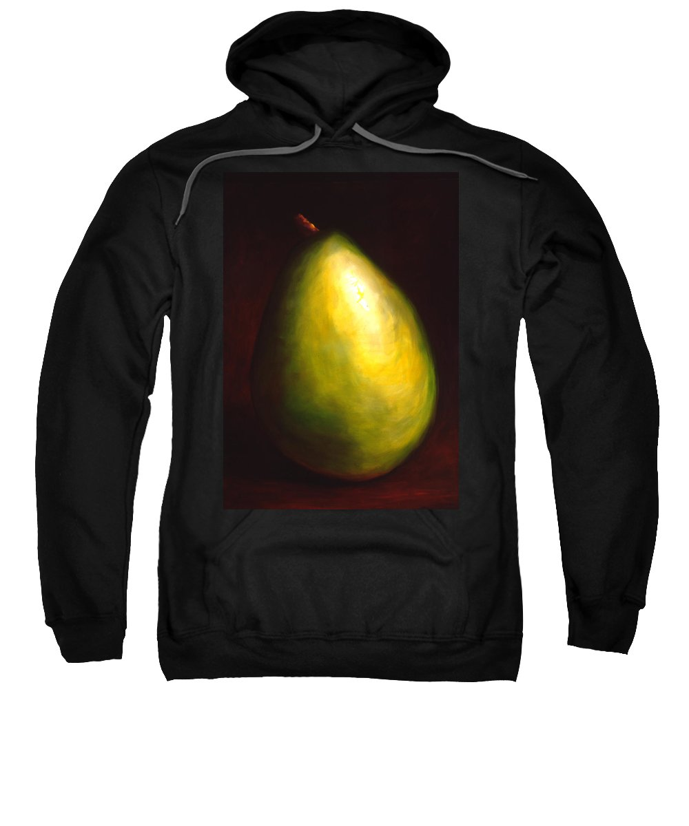 Pear Sweatshirt featuring the painting Jeana by Shannon Grissom