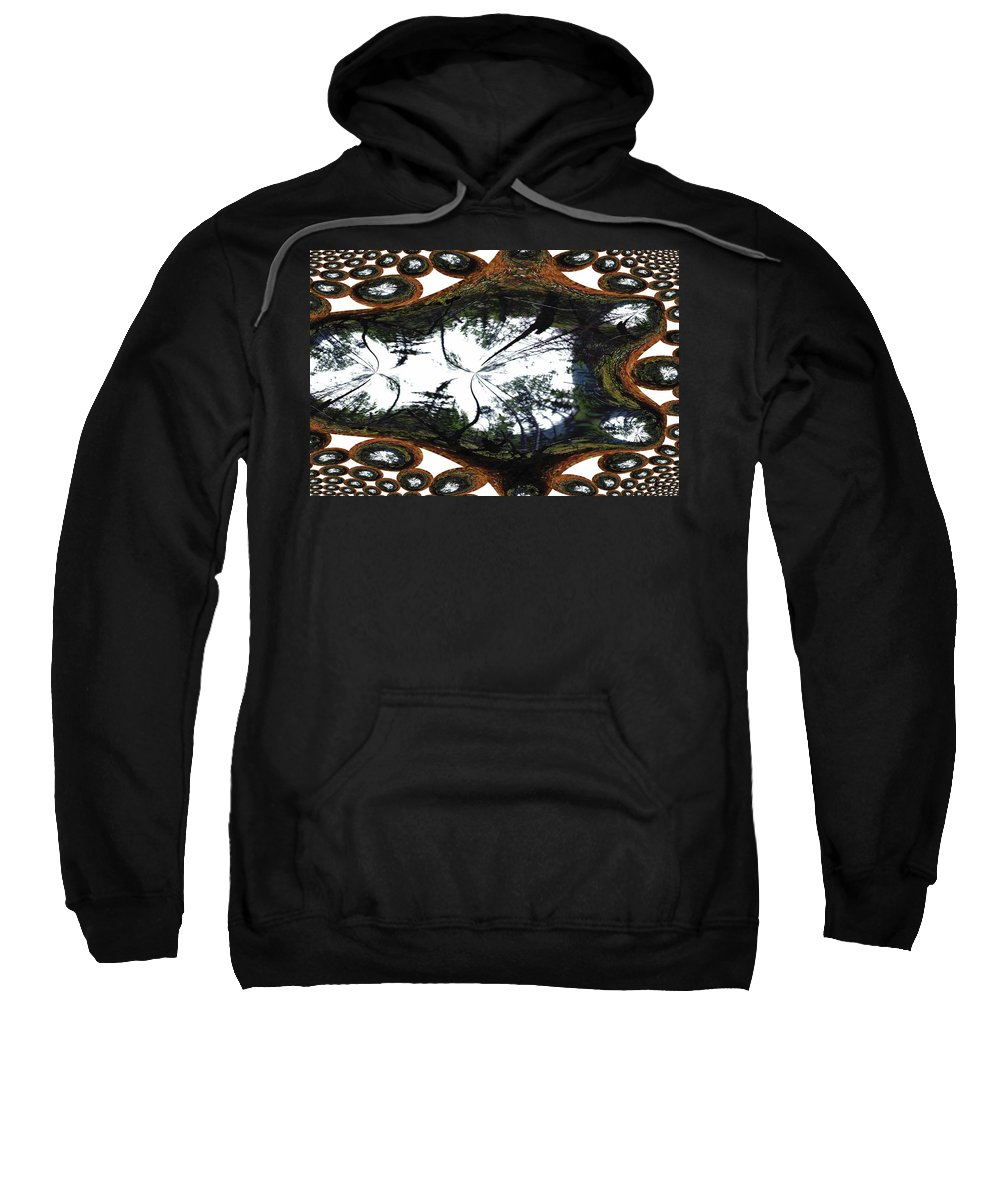 Trees Forest Life Cells Abstract Earth Sky Scenery Weird Different Green Land Sweatshirt featuring the photograph Jellin by Andrea Lawrence