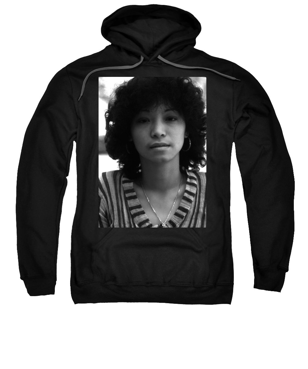 Portrait Sweatshirt featuring the photograph Jennifer by Lee Santa